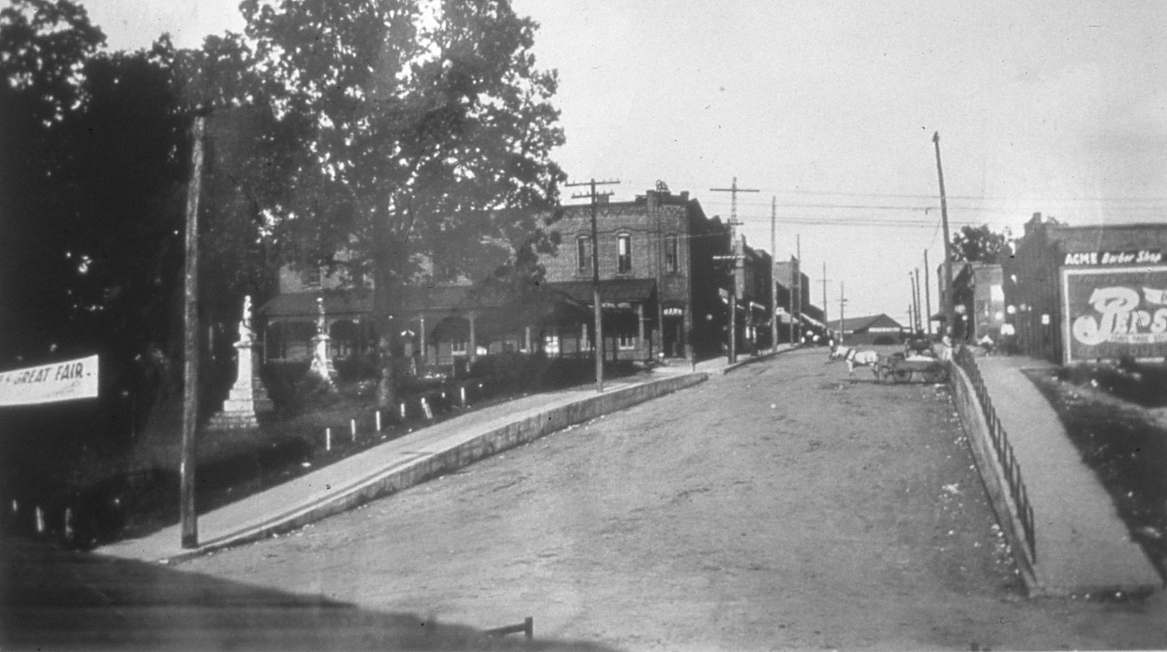 A.O. Jones Delivery Wagon on Main Street near Fort Mill Savings Bank