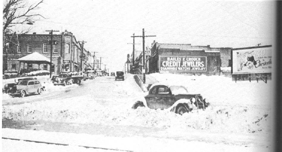 Fort Mill in the snow 1940's