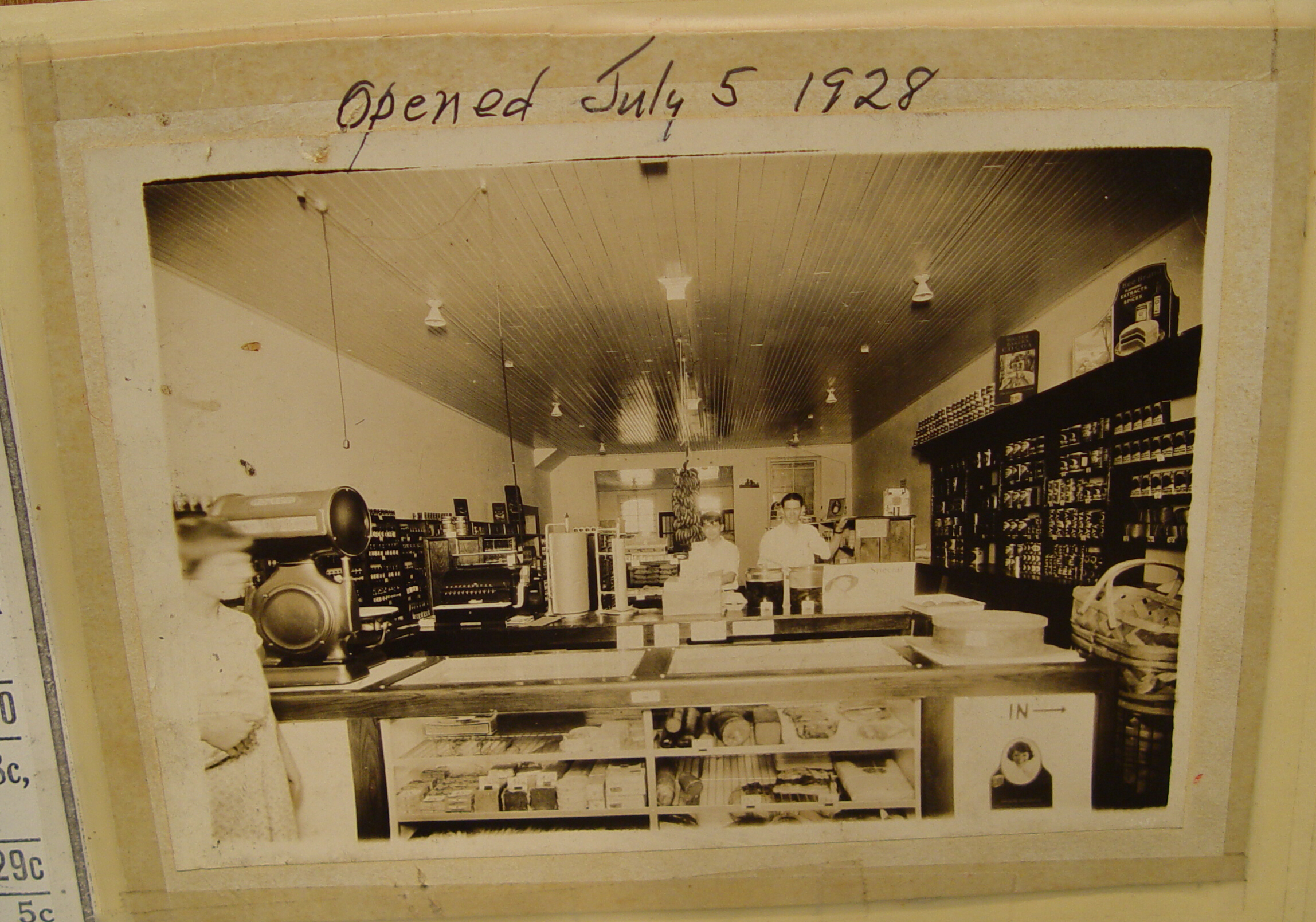 Mills Mercantile -July 5th, 1928