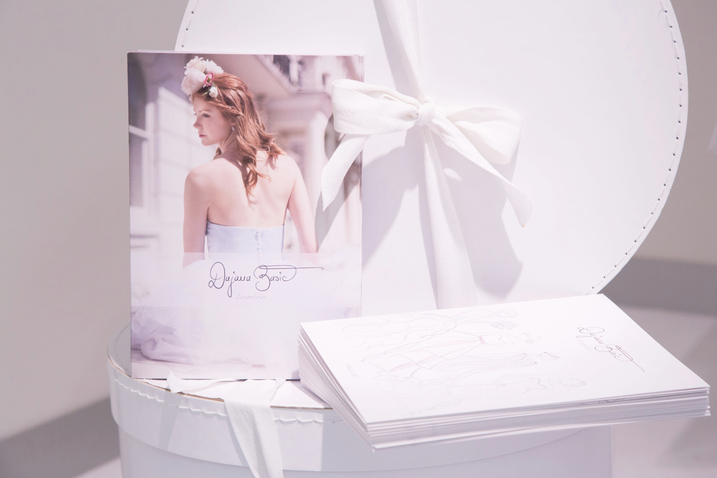 Delivery - Each gown is delivered in luxurious Dajana Basic London dress bags and packaging, including a bespoke certificate and handwritten card by Dajana.