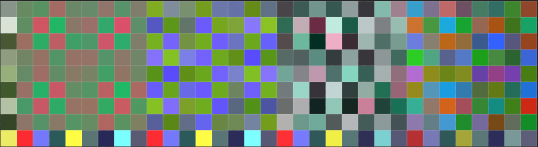 Figure 3B : Glitch strip resulting from poetic re-coding process.