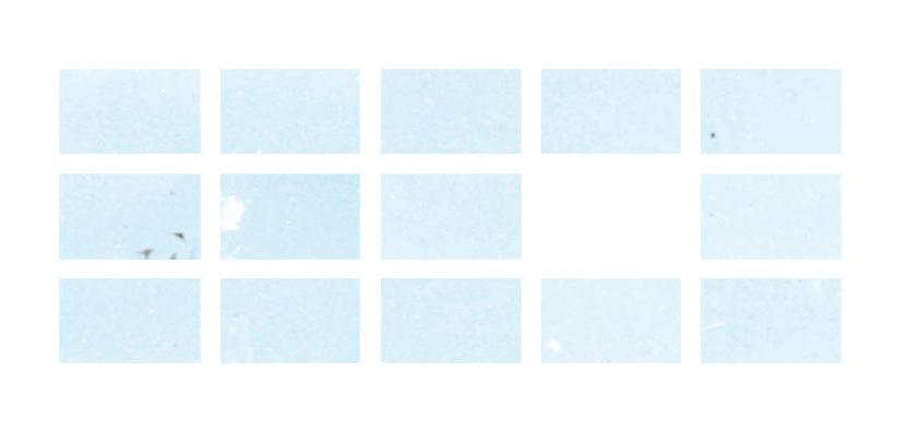 "Mossadegh Sky   (2013) Tiled Digital Prints 25"" x 70"" or 7.5"" x 12.5"" each"