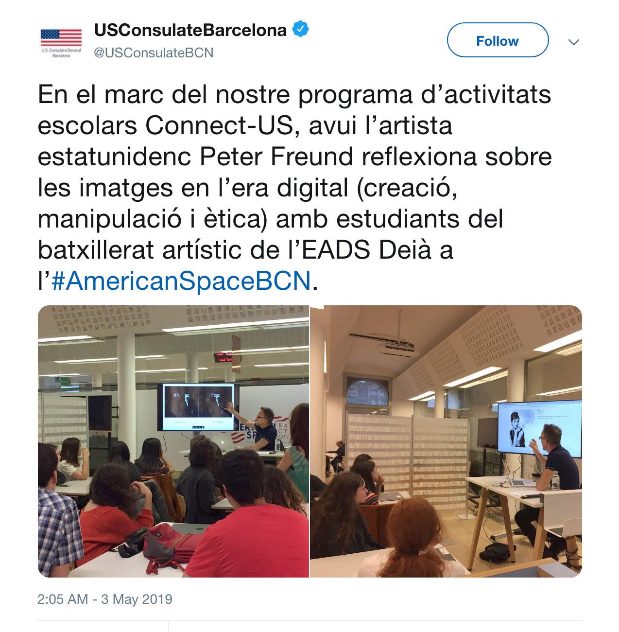Fig. 3 U.S. Consulate tweet.