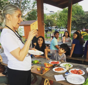 Midwest Ark of Taste shares heirloom tomatoes with neighbors and DePaul students at an August workshop.