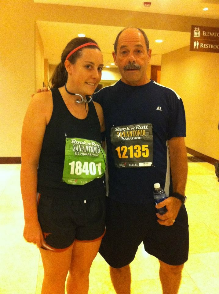 Katie and Dennis before the Rock'n'Roll Marathon in San Antonio