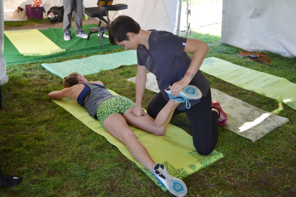 Massage at the 2016 CPF post race party courtesy of Universal Wellness