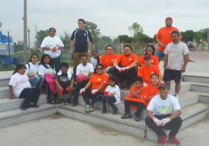 Home Depot volunteers pose after a rewarding workday