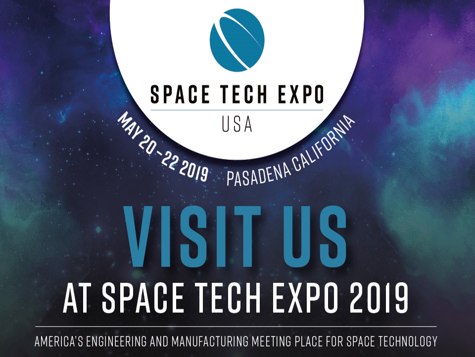 save the date!! - Visit us at the Space Tech Expo and learn about our exciting new innovations in space system development!