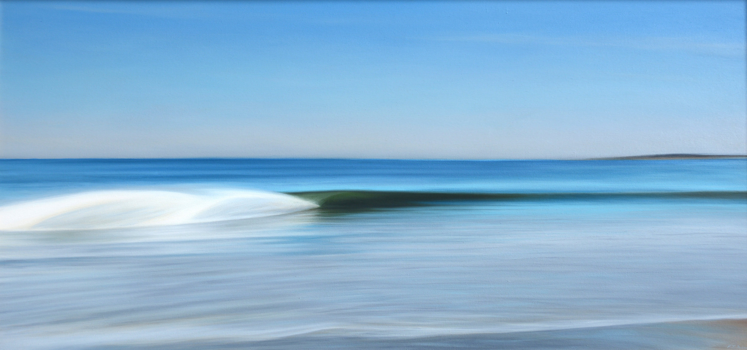 """13th Speedblurr""   Oil on Canvas    30""x56""    Original-Sold    Prints Available"
