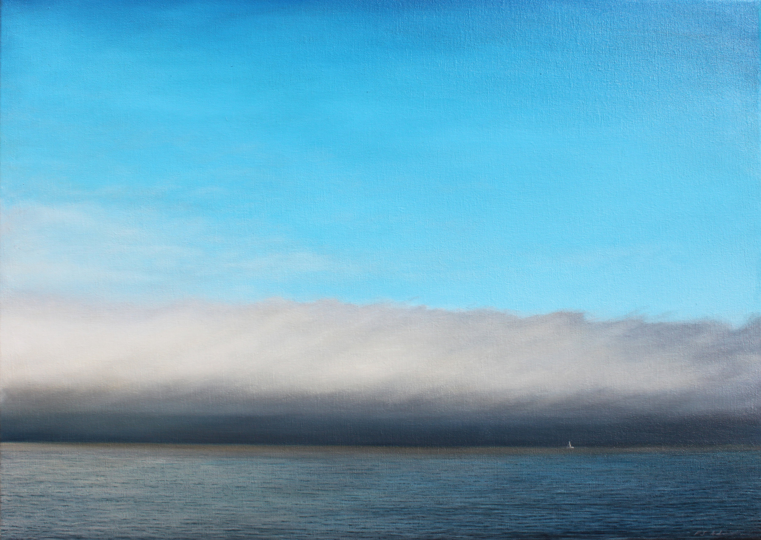 """Fog Bank""   Oil on Canvas    20""x28""    Original-Sold    Prints Available"