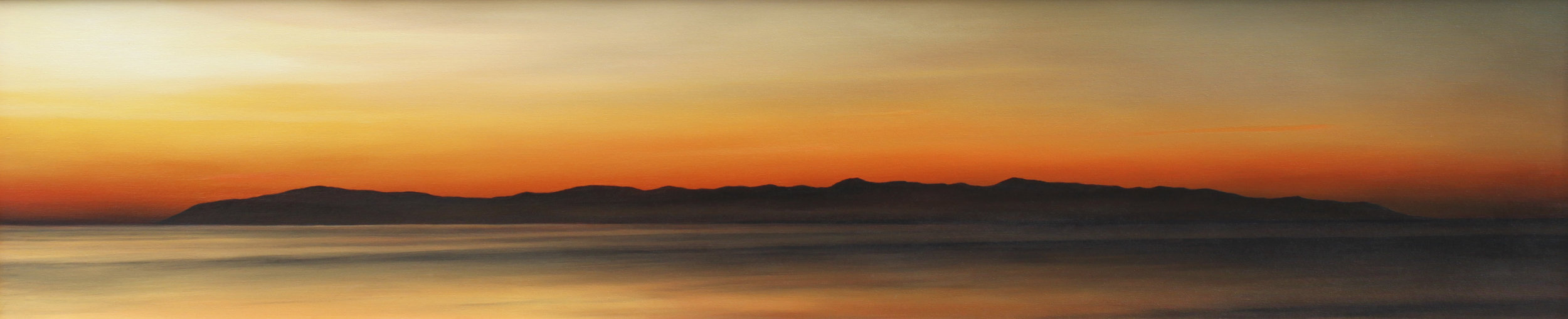 """Santa Lucia Sunrise""   Oil on Canvas    15""x68""    Original-Sold    Prints Available"