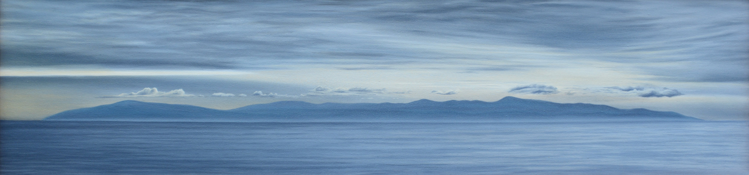 """Santa Lucia Storm""   Oil on Canvas    16""x64""    Original-Sold    Prints Available"