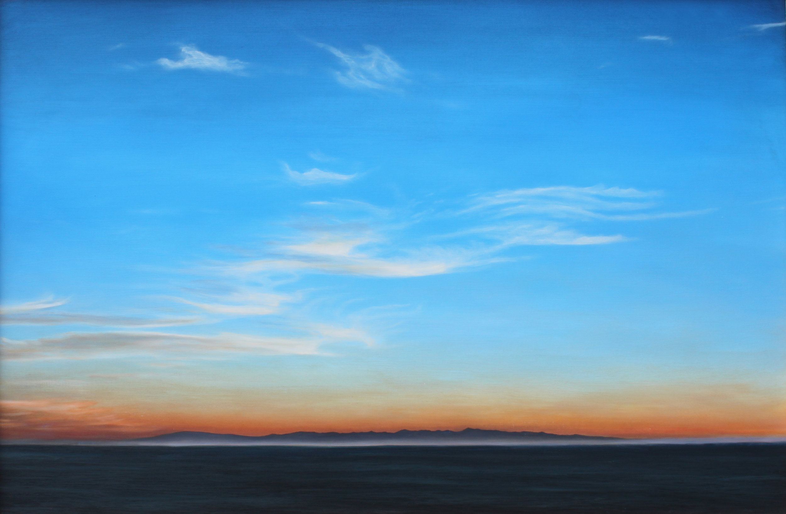 """Fire in the Sky""   Oil on Wood    28""x42""    Original-Sold    Prints Available"