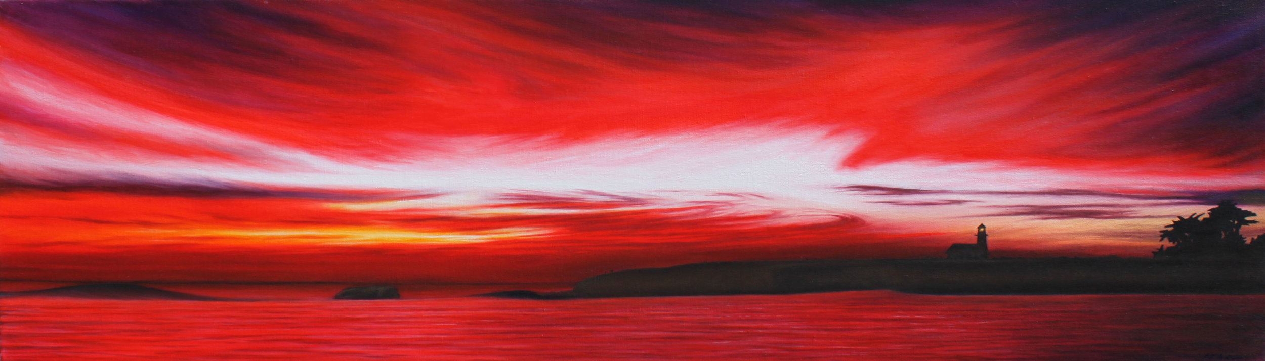 """Oil on Canvas    14""""x44""""    Original-Sold    Prints Available"""