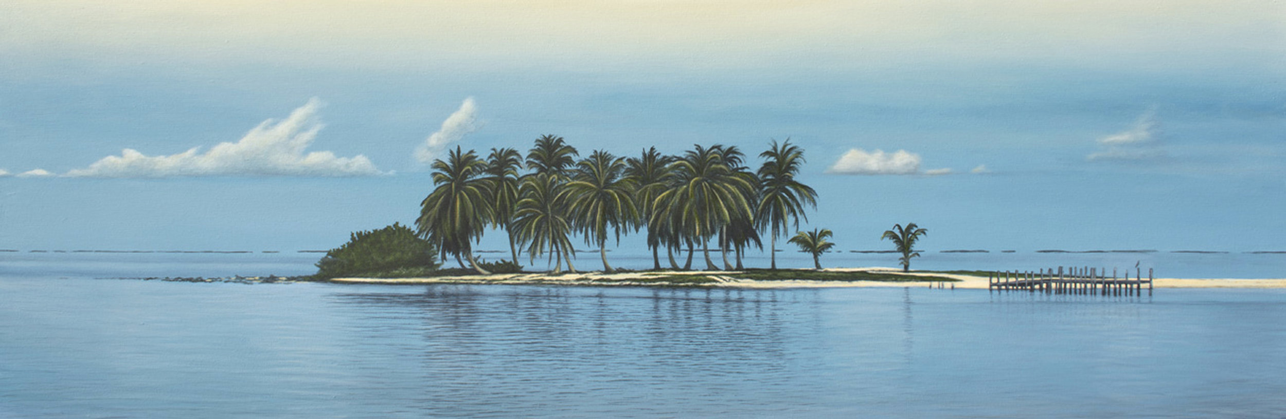 """Goff's Caye""   Oil on Canvas    16""x56""    Original-Sold    Prints Available"
