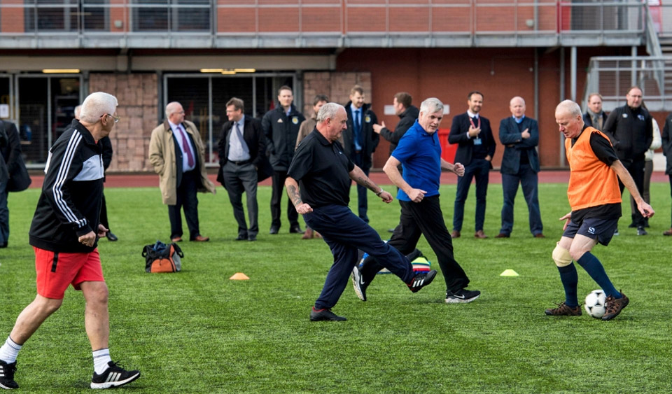 Great to see the players enjoying walking football at Lesser Hampden.