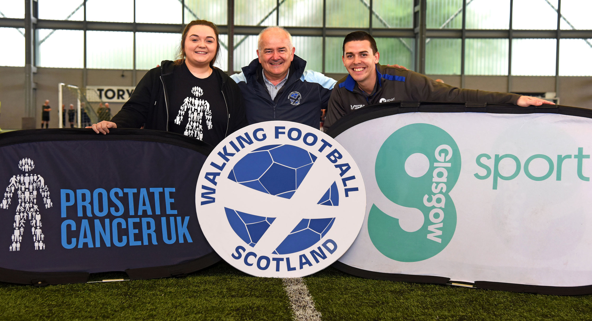 l-r Nicola Davidson, Gary McLaughlin and Matt Ramsay