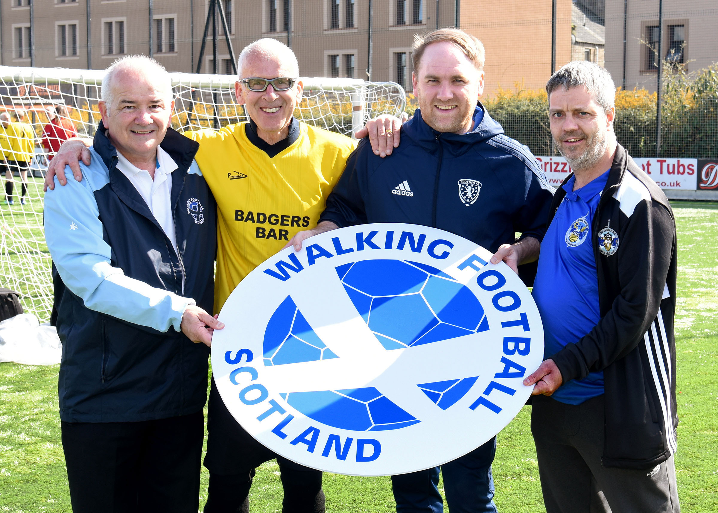 WFS Chair Gary McLaughlin with Bill McConnell, Craig Feret and Gordon Farquharson