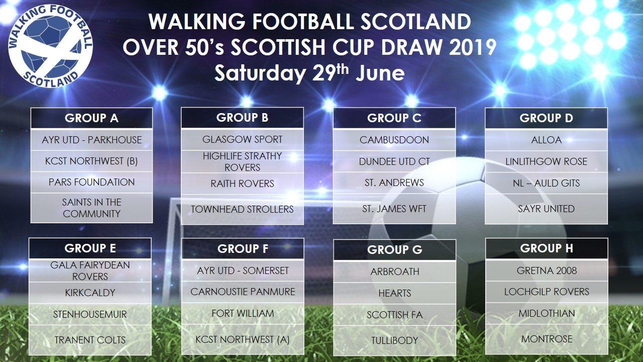 Walking Football Scotland Over 50's Draw