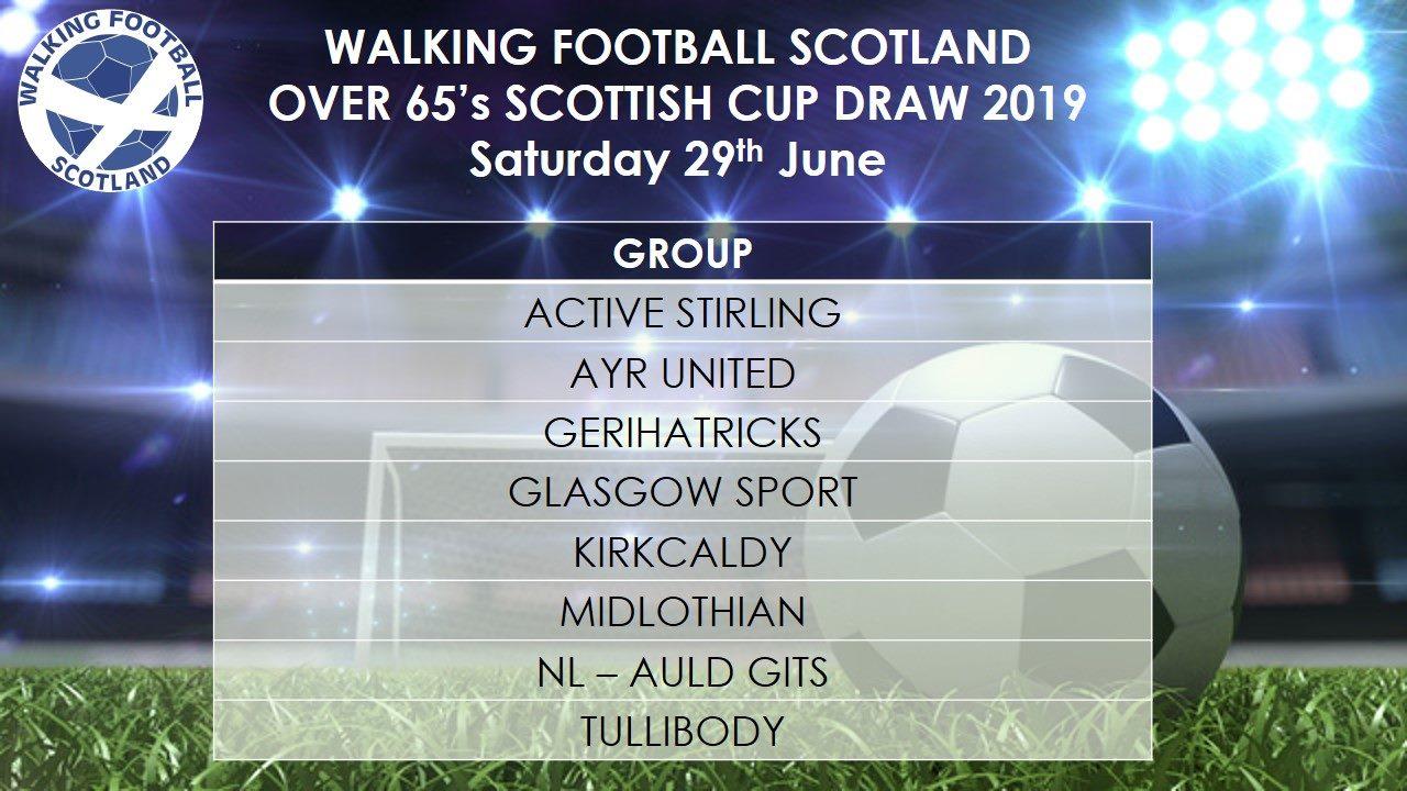 Walking Football Scotland Over 65's Draw