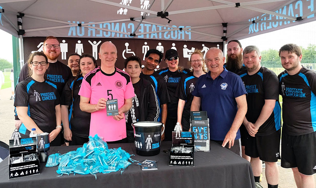 The Prostate Cancer UK team met up with Minister Joe FitzPatrick at the Festival on Saturday.