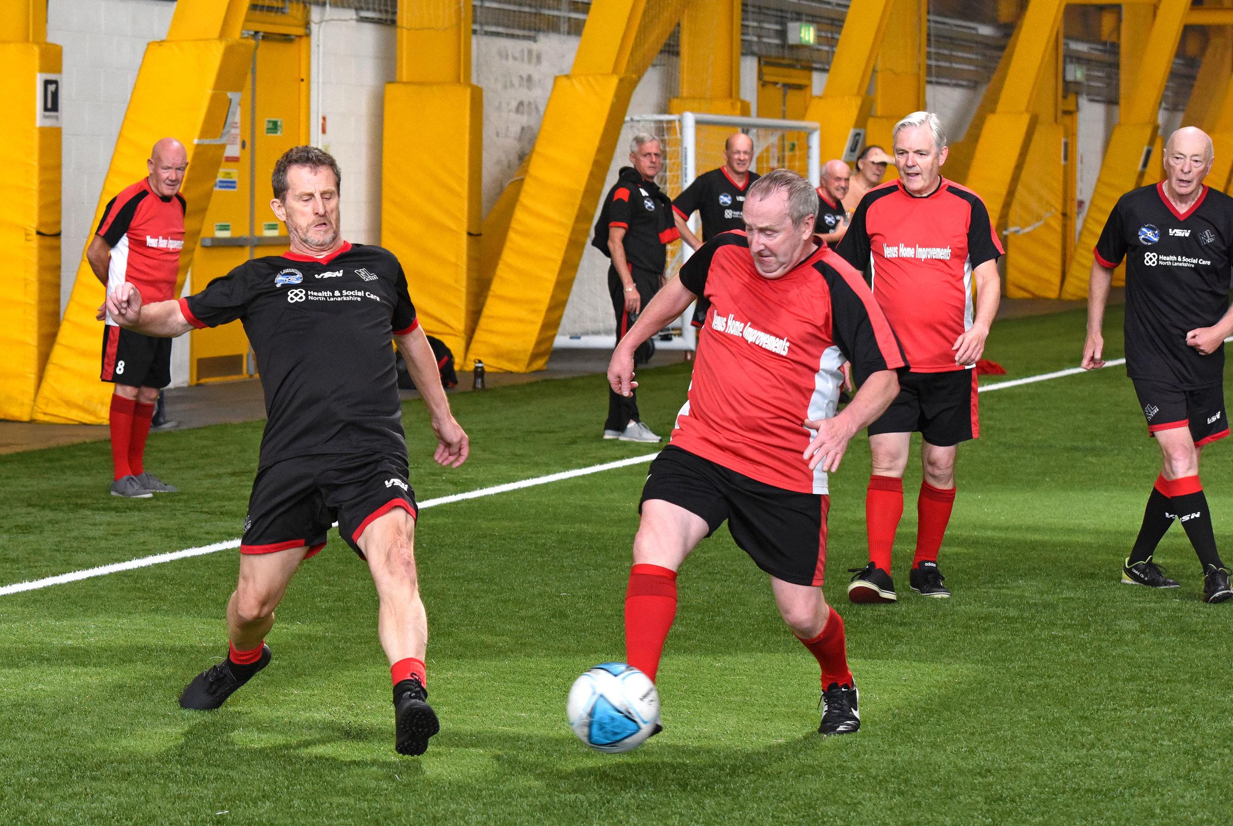 Action from North Lanarkshire Leisure A v East Kilbride Gerihatricks (Red)