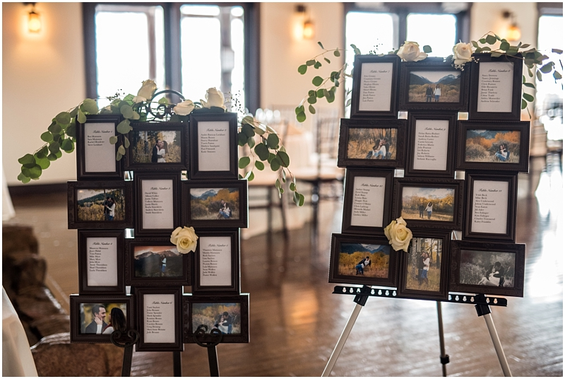 Shutter and Stone Photography, Estes Park Wedding, Colorado Mountain Wedding, Colorado Winter Wedding, Mary's Lake Lodge Reception, Estes Park winter wedding, mountain destination wedding, Shutter & Stone Photography, Janea Smith Photography, Estes Park Wedding Association, Haley Paige dress, snowy wedding photos, Estes Park photo inspiration, Estes Park photography, Estes Park professional photographer, Estes Park wedding, Mary's Lake wedding photos, Reception Photos, Estes Park reception ideas, reception seating chart idea