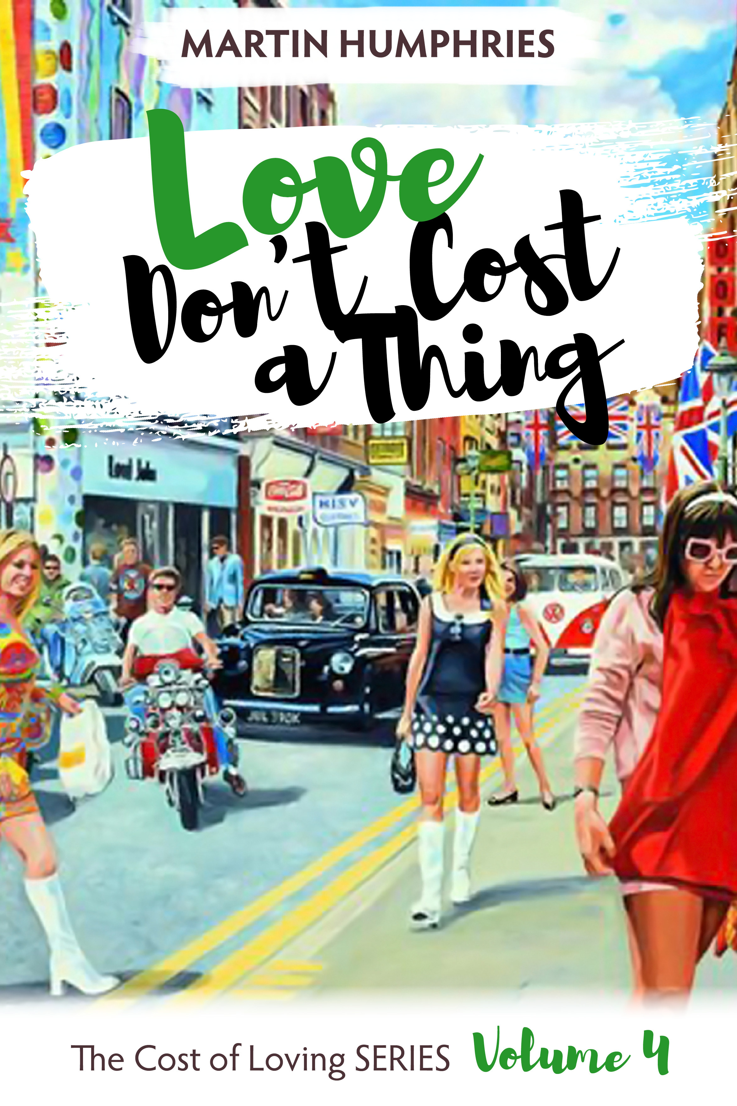 Volume 4 - Love Don't Cost a Thing  Sophia's and Toby's stars are in ascendency as they visit America to meet with a leading Hollywood producer who has been impressed by Toby's on-screen charisma. It's a hugely exciting time for them both and they revel in the thrill of it all. L.A. dazzles them, a new young man catches Toby's eye, and the fun of sunny Southern California begins to take a firm hold. Sophia has the chance to meet up with her cousin, Norma, who is still loving her Hollywood life, although it has become complicated. She enlists Sophia's help to unravel it, but will it all end in tears – or worse? Along the way, Sophia learns far more about the victims of the Vietnam War than she would prefer to, and is forced to take action of her own to protect some of them. As if that wasn't enough, someone from Sophia's past comes back from the dead, while Toby has enemies of his own to destroy before they destroy him. There are so many battles to fight. Who wins? Who loses? And at what cost?