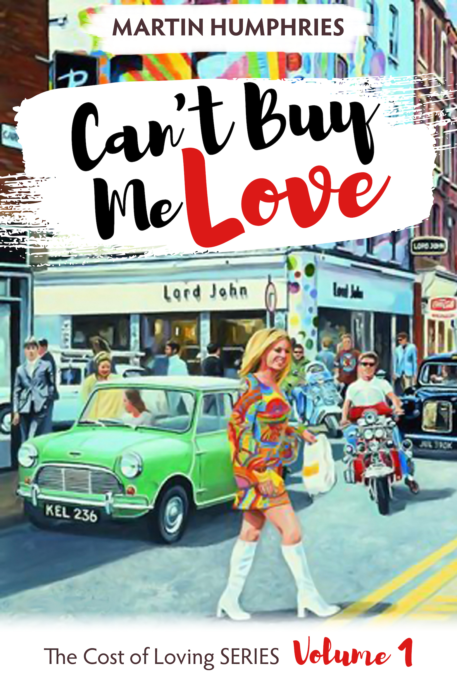 Volume 1 - Can't Buy Me Love  It's the sixties, and London might be swinging, but not for our girl, Edith. Raised in a miserable home full of anger and hate, life for poor Edith seems to hold little hope. But she finds plentywhen she teams up with her older gay cousin, Ronnie, who makes her his mission with a plan to re-shape her into the fabulous young woman he knows she deserves to be.  Once free of her father and her weak, defenseless mother, her transformation is swift and dramatic. Suddenly, life is an exciting adventure, full of twists and turns, as Edith's coming of age becomes a roller-coaster ride of glorious highs and frightening lows, including a father who comes back to haunt her. But where will it take her, and how will it end? Who will win, and who will lose?  'Can't Buy Me Love' is the first of six volumes in the 'The Cost of Loving' Series. If you like stories of success over adversity, family dramas and sexual diversity, then you will love Martin Humphries' bitter-sweet voyage of discovery through some of the most exciting years in living memory. Years chock full of changes of every kind, when being gay usually spelt trouble with a capital T.