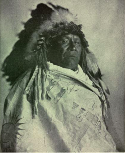 Image of Charging Thunder retrieved under Creative Commons licensure from  The Smithsonian Institution's Bureau of Ethnology Bulletin 61 entitled  Teton Sioux Music  by Frances Densmore.