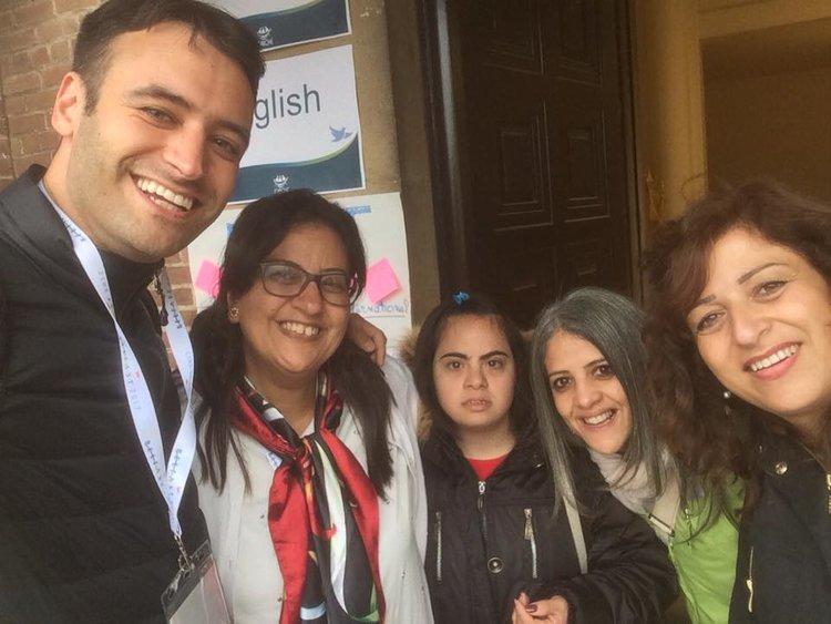 With friends,L'Arche Egypt &L'Arche Palastine
