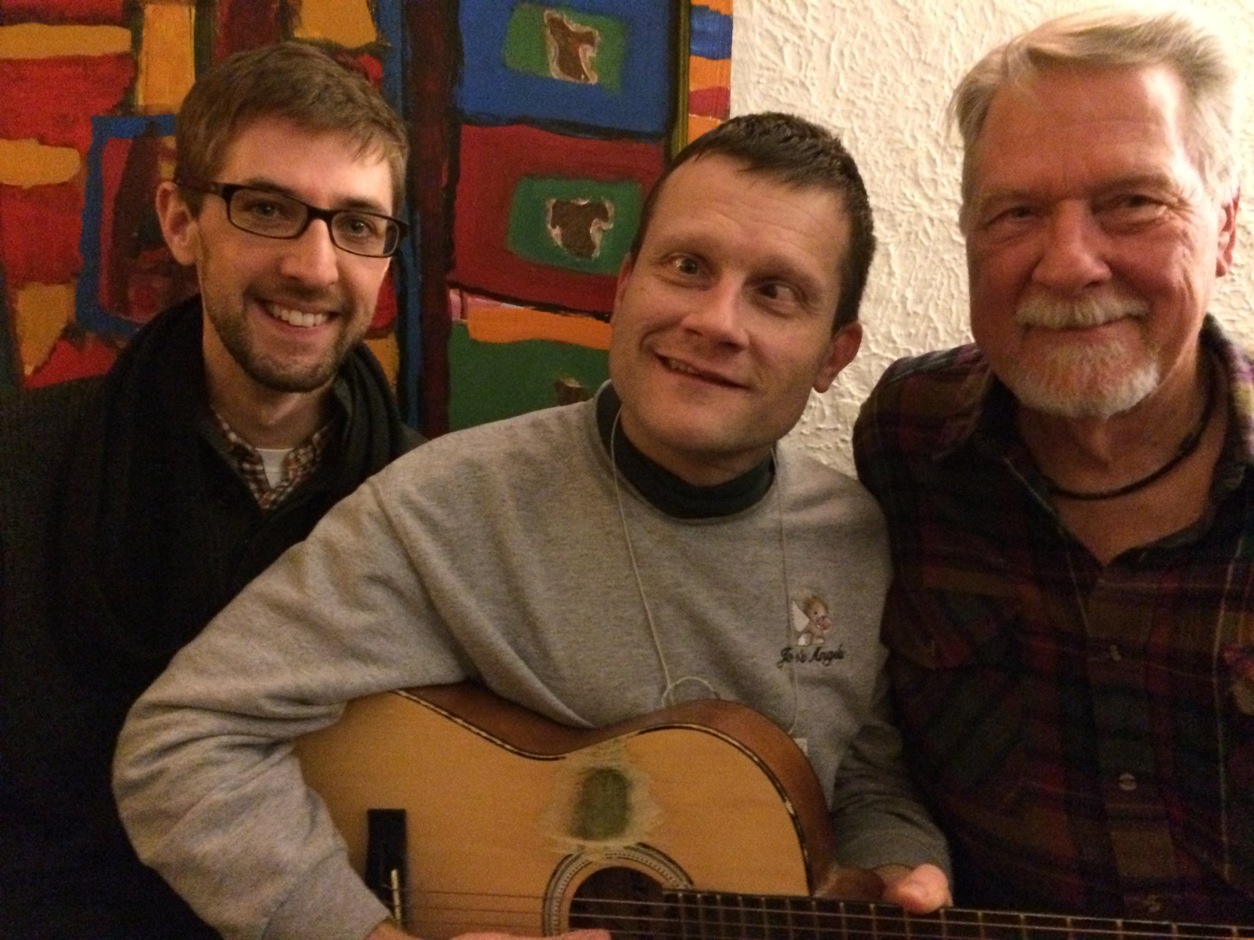 Mic, Noah, and Ron at a Community Night