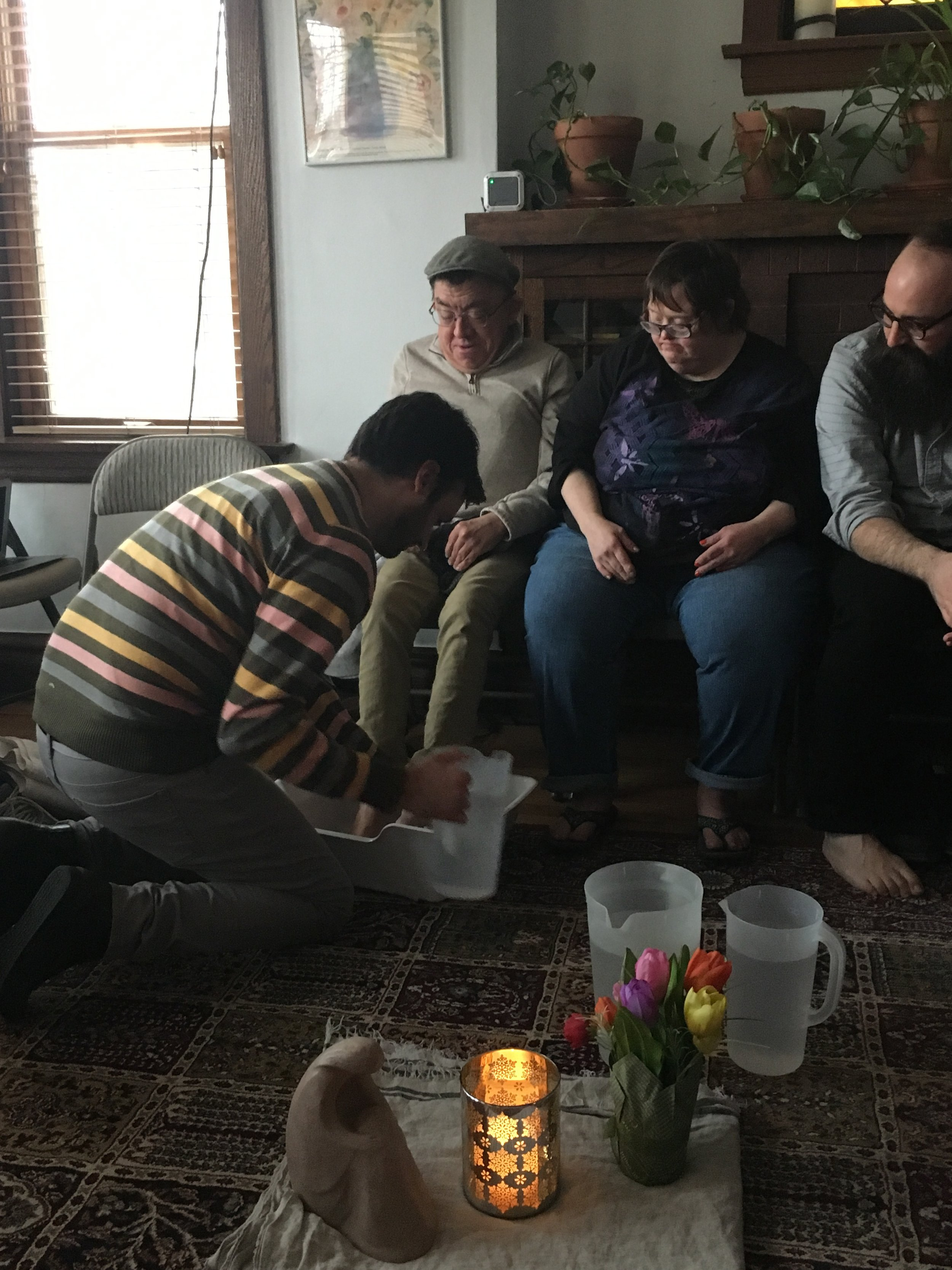 Annual washing of the feet at Angel House