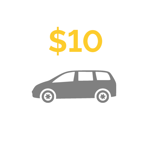 Pay for our parking at medical appointments or evenings out on the town for a week -