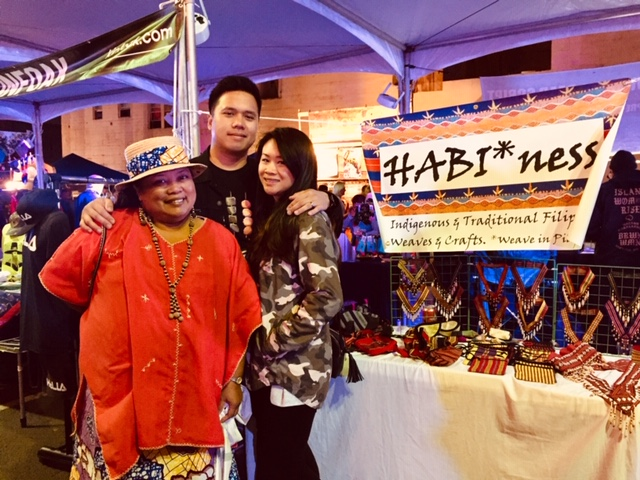 HABIness owner and dreamweaver Rachel Lozada with son Andres and his wife Jojo at UNDSCVRD's October night market.