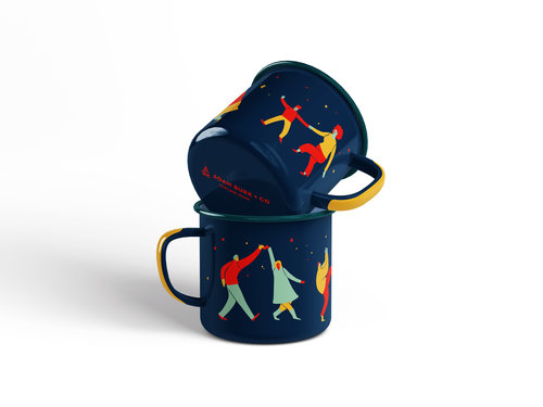 Limited Edition AB + Co. x Liz Long Enamel Mug [$20] by way of   Adam Burk + Co .