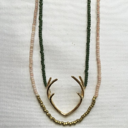 Beaded Necklace Set [$136] by way of   Sarah Crawford Handcrafted Jewelry