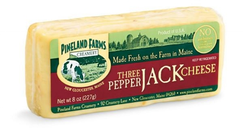 Three Pepper Jack Cheese [$4.50] by way of   Pineland Farms