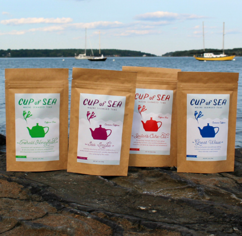 Seaweed Tea Variety 4-Pack [$40] by way of   Cup of Sea