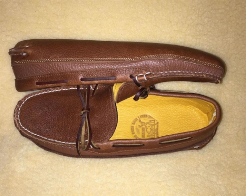 Deerskin-Lined Double-Sole Leather Moccasins [$130] by way of   Town View Leather