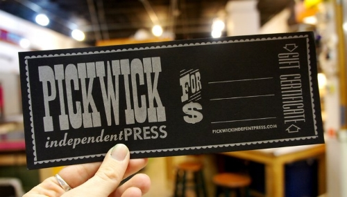 Workshop/Shop Access Gift Certificate [$125] by way of   Pickwick Independent Press
