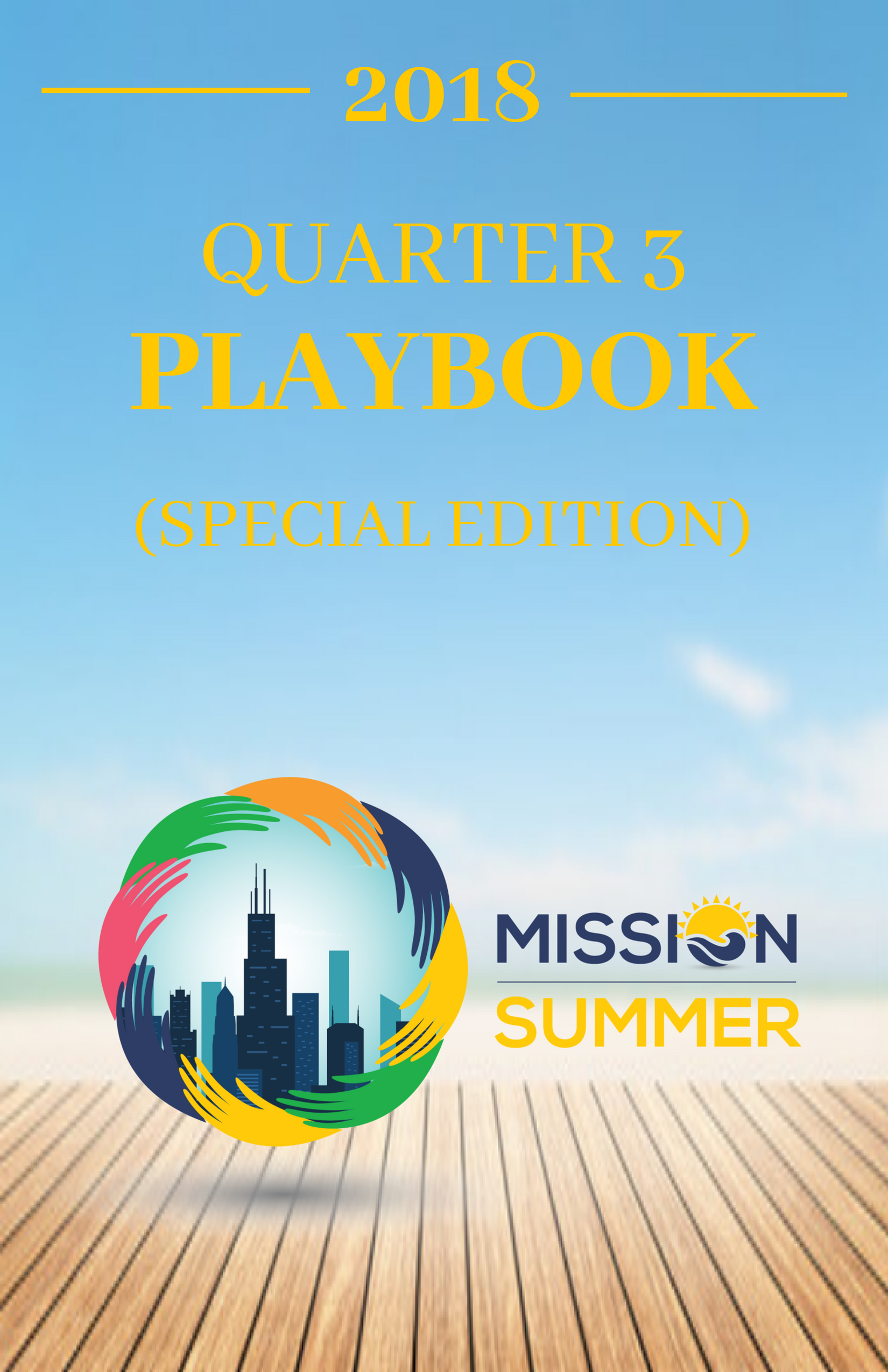 Get in the Know - Every quarter we print a Playbook that includes all of the important dates and upcoming events for Chicago Embassy Church.