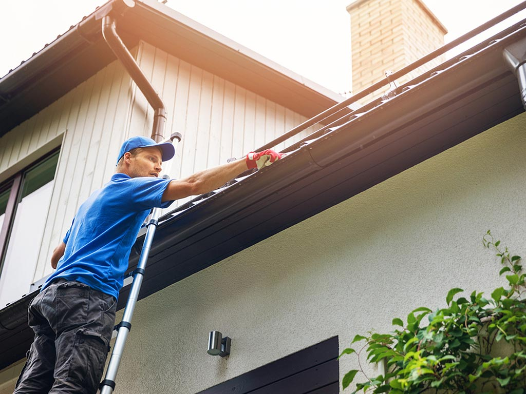 Gutter Cleaning $145 - Clear debris from entire gutter system. Minor repairs to include pitch adjustment, caulking and securing the system. Walkable roof under 2000sf. Terms and conditions may apply. Inquire for more details.