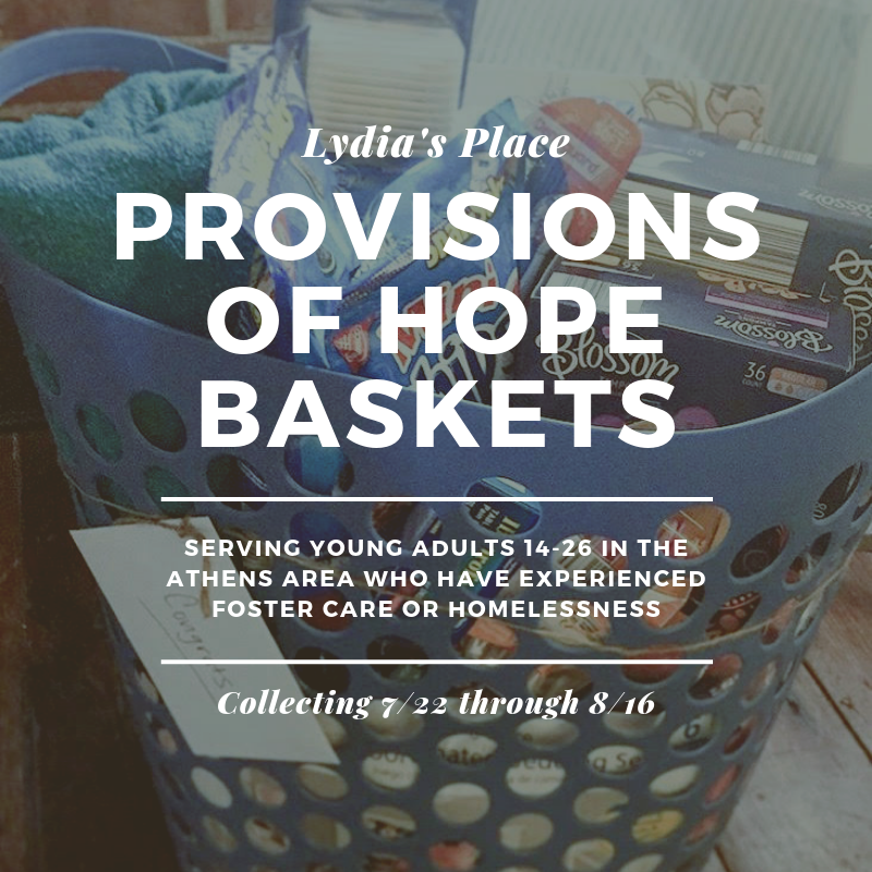 - Things to include in your basket:-shampoo/conditioner-razor/shaving cream-toothbrush/toothpaste-body wash-deodorant-feminine hygiene for girls-dorm-size sheets (twin XL)-blanket/comforter-laundry detergent-grocery gift cards (Walmart, Target, Kroger)-notebooks-academic planner-encouraging notes