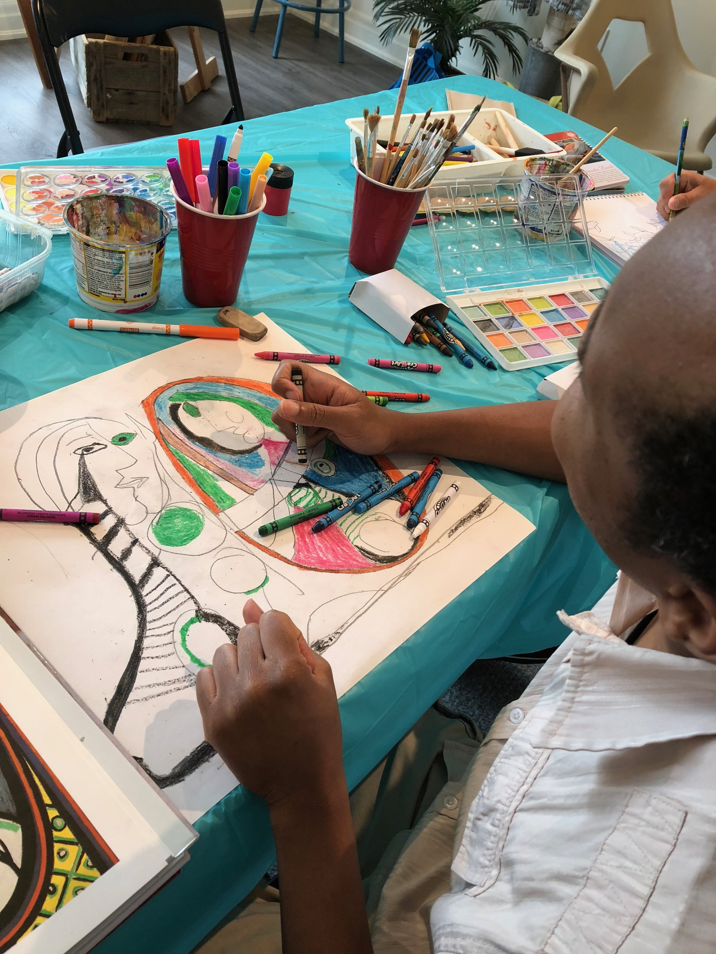 The studio offers art classes to special needs adults in partnership with Community Living.