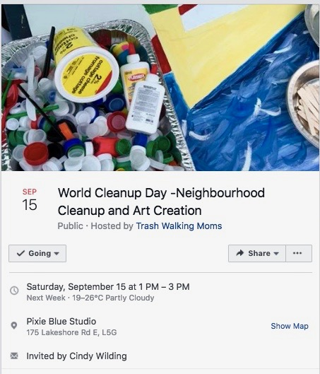 Join with family and friends to pick up some neighbourhood litter (3 pieces or a whole bag!), and bring it to us at Pixie Blue Studio. While there, add to a work in progress art piece that aims to highlight the global problem of plastic pollution at a local level. Win prizes, have some fun, and learn about some simple suggestions for reducing your plastic footprint.