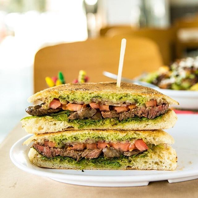 nothing says 'hello weekend' like a grilled skirt steak sandwich. 🥪🎉 #seeyousoon #keepitsimplethings #weekend