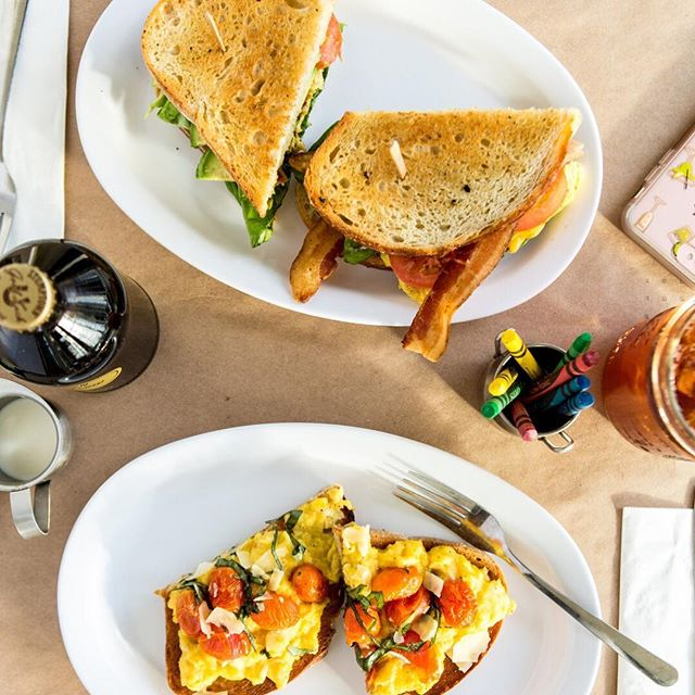 the perfect brunch set up includes bacon, eggs, some veggies and some sort of bread for good measure. 🍞🍳🥓lucky for you, we have it all!😋 #seeyousoon #keepitsimplethings