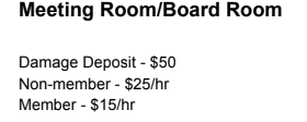 Board Room Pricing - We have multiple sized board rooms to handle all of your meeting needs!