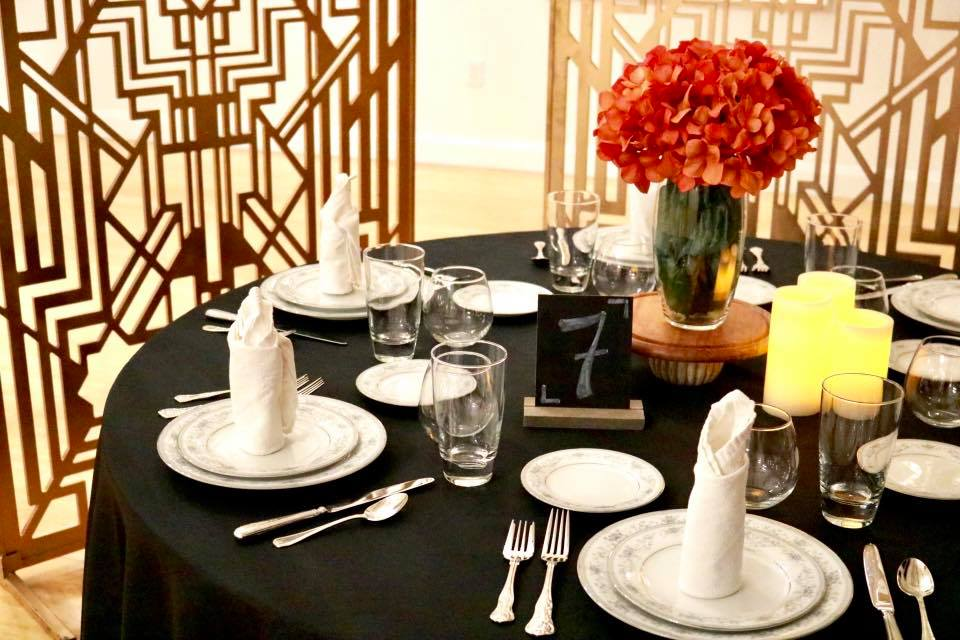 Art Deco Table Setting - CenterStage Events